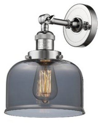 Gaudreau 1-Light Bath Sconce Breakwater Bay Finish: Oil Rubbed Bronze, Bulb Type: LED, Shade Color: Plated Smoked