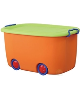 Basicwise QI003221 Stackable Toy Storage Box with Wheels,