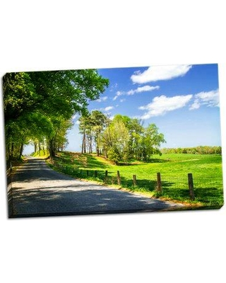 East Urban Home 'River Road' Photographic Print on Wrapped Canvas BF056727