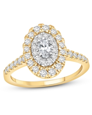 Jared The Galleria Of Jewelry Diamond Engagement Ring 1 ct tw Oval/Round 14K Two-Tone Gold