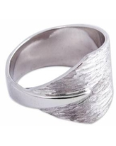 Hand Crafted Sterling Silver Band Ring by Mexican Artisans
