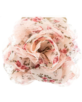 Ivory & Pink Layered Lace & Floral Flower Clip