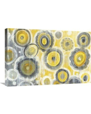 """East Urban Home 'Abstract Circles Crop' Print ESUM9718 Size: 20"""" H x 30"""" W Format: Wrapped Canvas"""