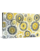 """East Urban Home 'Abstract Circles Crop' Print ESUM9718 Size: 20"""" H x 30"""" W, Format: Wrapped Canvas"""