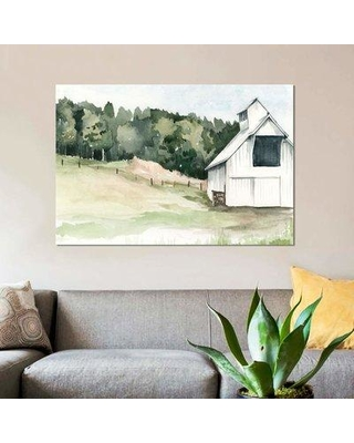 """East Urban Home 'Watercolor Barn III' Graphic Art Print on Canvas EBHS6622 Size: 8"""" H x 12"""" W x 0.75"""" D"""