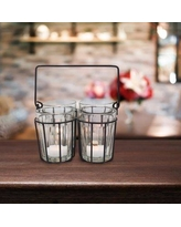 Alcott Hill Cut Glass Tealight Holder with Wire ACOT8145