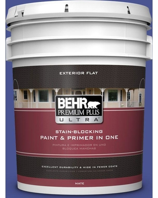BEHR Premium Plus Ultra 5 gal. #P540-7 Canyon Iris Flat Exterior Paint and Primer in One