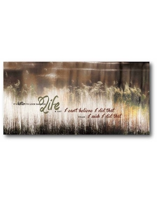 Beautiful life Gallery-Wrapped Canvas Wall Art, 12x24