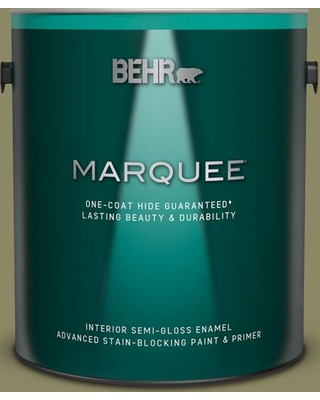 BEHR MARQUEE 1 gal. #PPU9-23 Oregano Spice Semi-Gloss Enamel Interior Paint and Primer in One