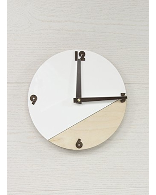 Promi Design Round Wall Clock - White Wall Clock - Modern Wall Clock -  Wooden Wall Clock - Organic Glass Clock - Living Room Clock - Office Clock  from ...