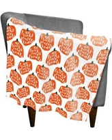 "The Holiday Aisle Pumpkin Fleece Throw THDA5406 Size: 30"" W x 40"" L"