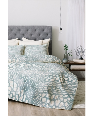 Blue Dash and Ash Cove Comforter Set (Queen) 3pc - Deny Designs, Gray