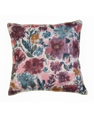 "22""x22"" Sorrento Floral Foil Printed Pillow Pink - Décor Therapy"