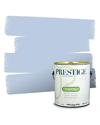 PRESTIGE Paints Interior Paint and Primer In One, 1-Gallon, Satin, Comparable Match of Benjamin Moore* Blue Ice*