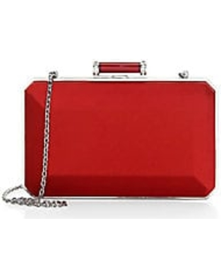 Judith Leiber Couture Women's Soho Satin Clutch - Red
