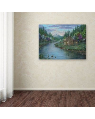 "Trademark Art 'The Cabin' Graphic Art Print on Wrapped Canvas ALI12067-C Size: 24"" H x 32"" W x 2"" D"