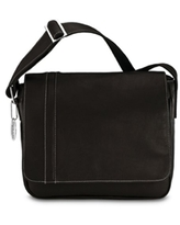 David King & Co. Deluxe Medium Messenger with Inlay, Cafe, One Size