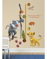 Room Mates 27 Piece Lion King Rafiki Giant Growth Chart Set RMK1924SLM