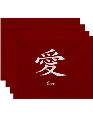 Bloomsbury Market Chantilly Love Print Placemat BBMT7585 Color: Red
