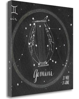 "Tangletown Fine Art 'Night Sky Gemini' Graphic Art Print on Canvas WA621248-1818c Size: 20"" H x 20"" W"