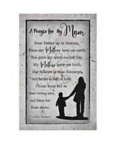 """Dexsa Prayer for My Mom New Horizons Wood Plaque with Easel and Hook, 6"""" x 9"""