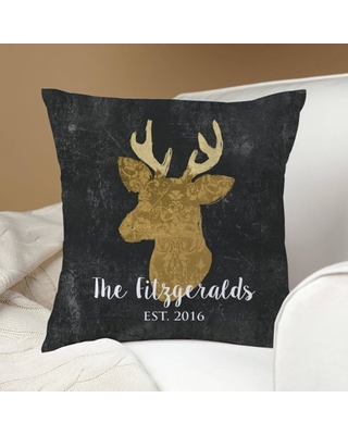 Personalized Deer Throw Pillow