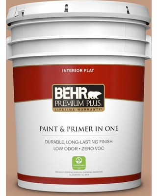 BEHR Premium Plus 5 gal. #PPU3-12 Egyptian Pyramid Flat Low Odor Interior Paint and Primer in One