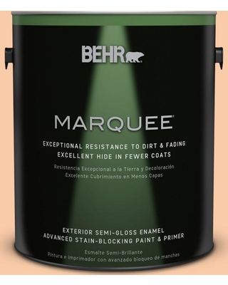 BEHR MARQUEE 1 gal. #270C-3 Coral Confection Semi-Gloss Enamel Exterior Paint and Primer in One