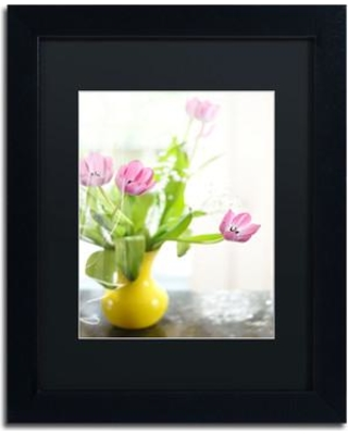 """Trademark Art """"Tulips in Vase"""" by Lois Bryan Framed Photographic Print LBR0279-B1114BMF / LBR0279-B1620BMF Size: 14"""" H x 11"""" W x 0.5"""" D"""