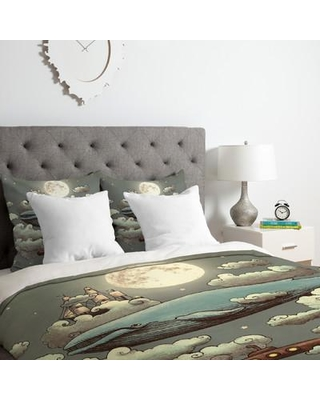 East Urban Home Ocean Meets Sky Duvet Cover Set ESRB1831 Size: Queen