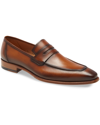 Men's Mezlan Ginza Penny Loafer, Size 13 M - Brown