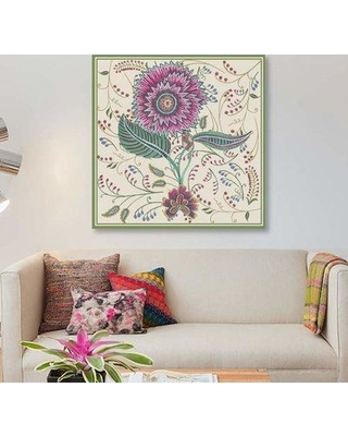 """East Urban Home 'Chintz Composition II' Graphic Art Print on Canvas EBHS5730 Size: 18"""" H x 18"""" W x 1.5"""" D"""