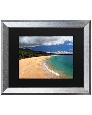 """Highland Dunes 'Makena Maui' Framed Photographic Print on Canvas W000675015 Size: 16"""" H x 20"""" W x 0.5"""" D Format: Silver"""