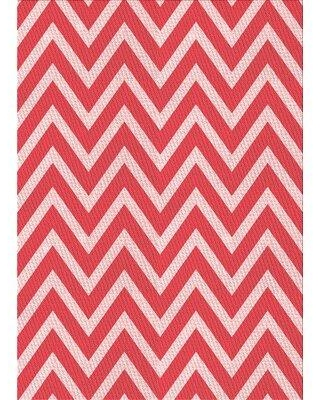 East Urban Home Chevron Wool Red Area Rug W001737298 Rug Size: Rectangle 5' x 7'