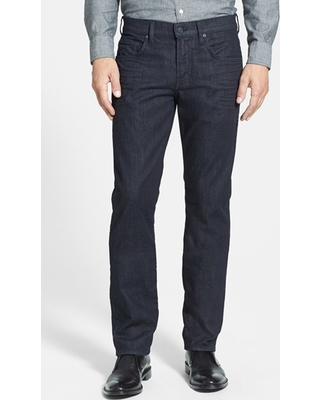 Men's 7 For All Mankind The Straight Luxe Performance Slim Straight Leg Jeans, Size 34 - Blue