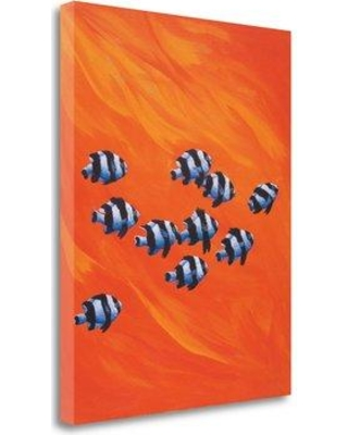 "Tangletown Fine Art '10 Black-Tailed Humbugs' Graphic Art Print on Wrapped Canvas CA305138-1823c Size: 26"" H x 20"" W"