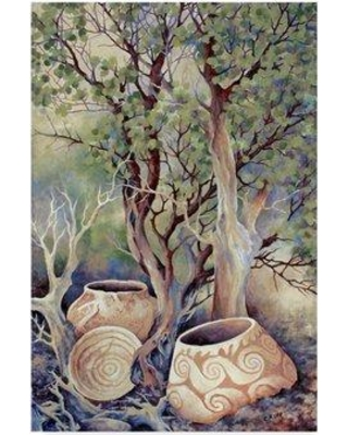 """World Menagerie 'Ceramic Pottery' Acrylic Painting Print on Wrapped Canvas WRMG6786 Size: 47"""" H x 30"""" W x 2"""" D"""