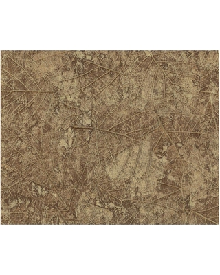 York Wallcoverings Color Library II Tossed Leaves Wallpaper, Dark Taupe