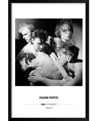 """Artography Limited 'Passion Puppets' Framed Photographic Print Poster BF033275 Size: 37"""" H x 25"""" W x 1.25"""" D"""
