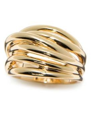 New Directions Gold Gold-Tone Multi Band Ring
