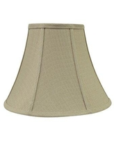 """Darby Home Co 9.5"""" H Faux silk fabric Bell Lamp shade ( Spider ) in Olive ESCI4405"""