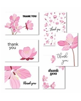 Cavepop Cavepop Floral Thank You Cards - Set Of 36 HCS-PFTYCD-WT