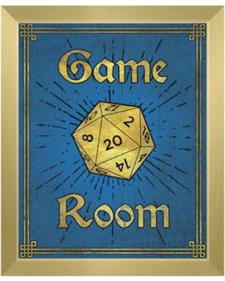 """Click Wall Art Game Room Framed Painting Print on Canvas GRM0000134FRM Format: Gold Framed Size: 11"""" H x 14"""" W"""