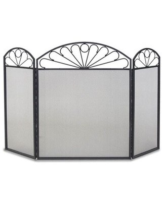 Colonial 3 Panel Iron Fireplace Screen