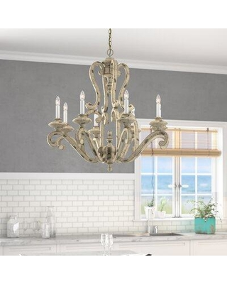 Rosecliff Heights Clarksburg 8-Light Candle Style Chandelier ROHE4462