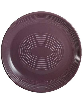CAC China TG-13C-PLM Tango 11-1/2-Inch by 9-1/4-Inch Plum Porcelain Coupe Oval Platter, Box of 12