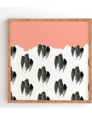 "East Urban Home 'Painted Feathers' Graphic Art Print EUBM5278 Size: 12"" H x 12"" W Format: Satin Framed"