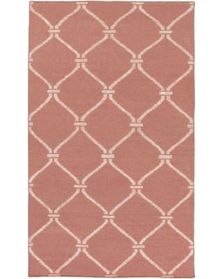 Breakwater Bay Pennyfield Hand-Woven Wool/Cotton Pink Area Rug BRWT1199 Rug Size: Rectangle 9' x 13'