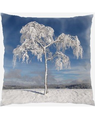 Shop Deals For The Holiday Aisle Fairborn Winter Indoor Outdoor Canvas Throw Pillow Polyester Polyfill In Blue Gray Silver Size 18x18 Wayfair