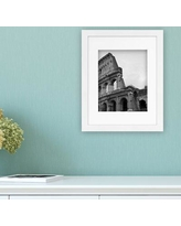 """Framatic Modern Picture Frame 3021- Picture Picture Picture Size: 8"""" x 10"""" Color: White"""